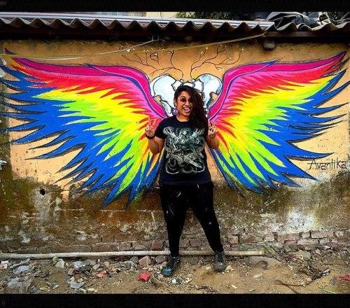 streetartglobal:  By @womenpow in India - http://globalstreetart.com/avantika#globalstreetart https://www.instagram.com/p/BLmxXLigoyt/