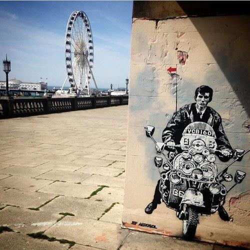 streetartrats:🐀🖌 Artist: Jef Aerosol🌐 Location: Quadrophenia, Brighton, UK📷 Photo: repost - check out @jefaerosol for more amazing street art!•••••••••••••••••••••••••••••••••••••••••• ℹ️ More info at StreetArtRat.com#travel #streetart #street #streetphotography #tflers #sprayart #urban #urbanart #urbanwalls #wall #wallporn #graffitiigers #stencilart #art #graffiti #instagraffiti #instagood #artwork #mural #graffitiporn #photooftheday #streetartistry #pasteup #instagraff #instagrafite #streetarteverywhere #repost http://ift.tt/1rXCMge