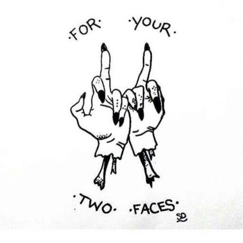 Two Faced Tattoo Tattoo Pinterest Middle fingers and Doodles - general release form