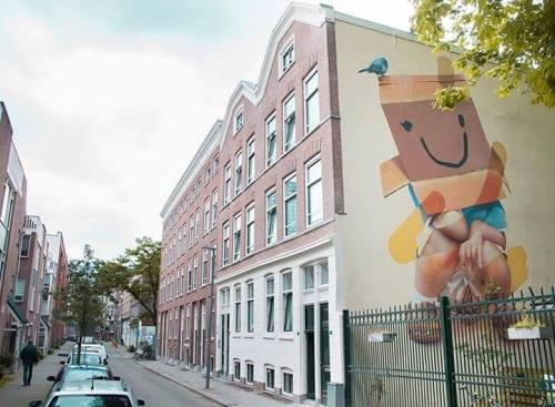 """urbanartlab:  """"Don't Say Nothing"""" a mural representing modern day kids, shutting themselves off from the outside world. By TELMO MIEL"""