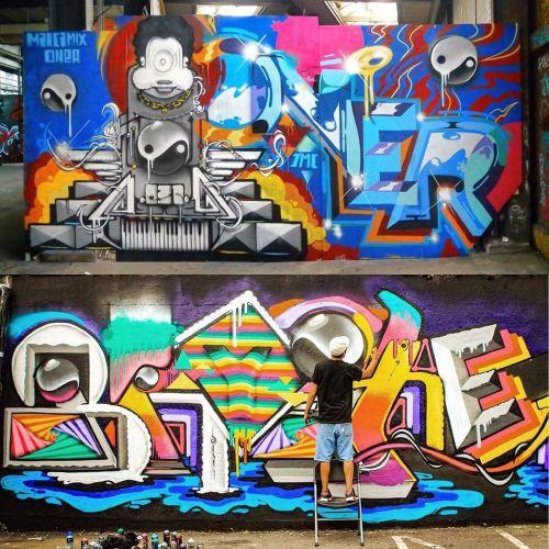 streetartglobal:  By @marcamix031 from Malta (top piece with Oner too) - http://globalstreetart.com/marcamix#globalstreetart https://www.instagram.com/p/BCY4nAvAEPn/