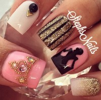 cinderella nails   Tumblr