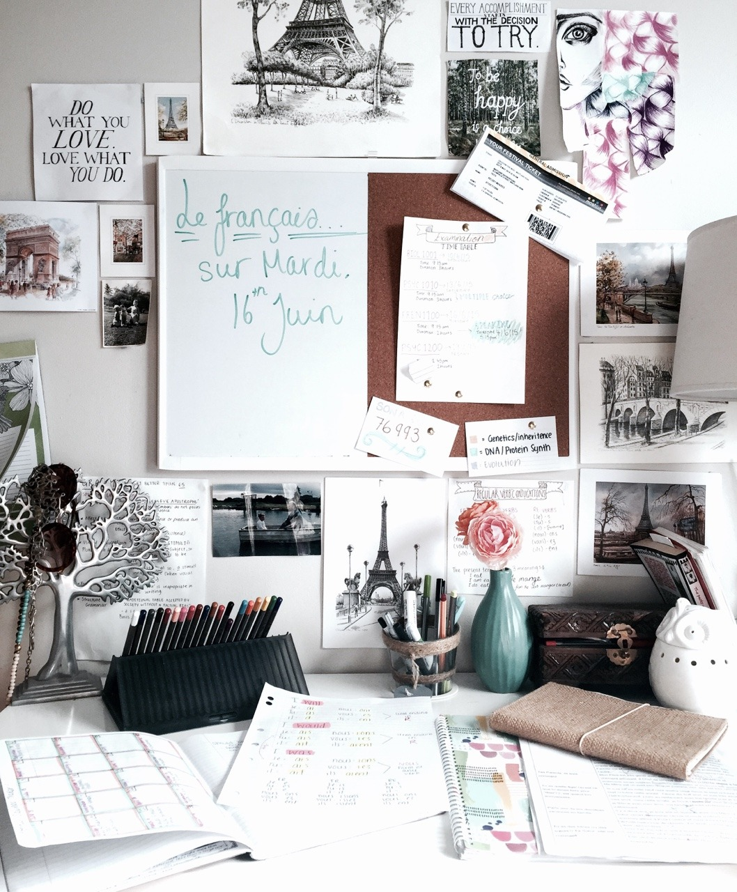 Bedroom Desk Tumblr French Study French Posters French Books French