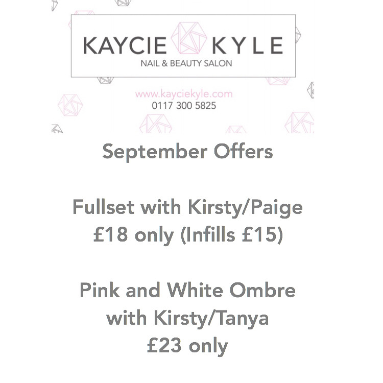 Special offer for September with @nailsbykirsty_x @paigebottasbeauty @tanya_nails_lashes_gym_