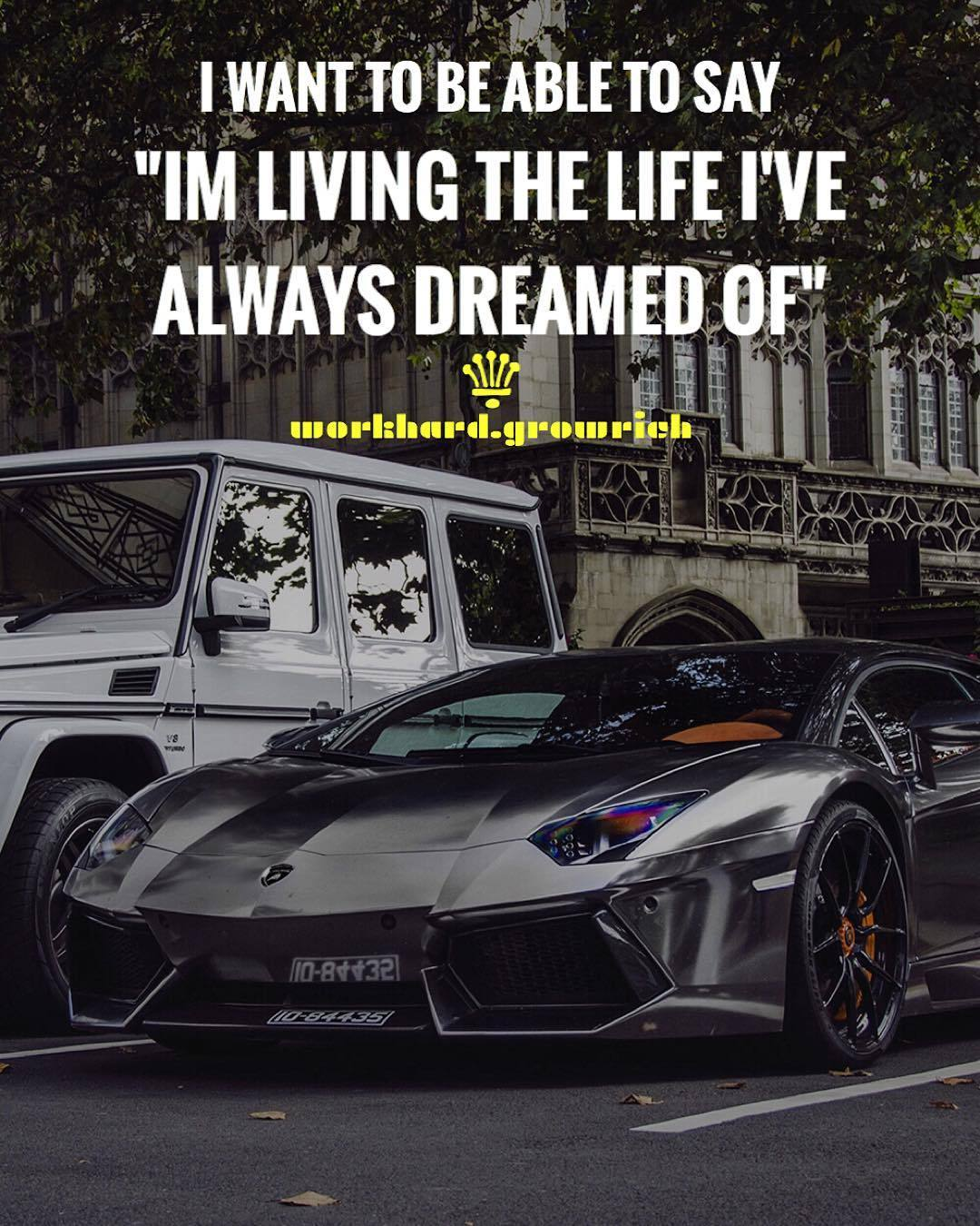 Billionaire Quotes Wallpaper Work Hard Grow Rich I Want To Be Able To Say Im Living