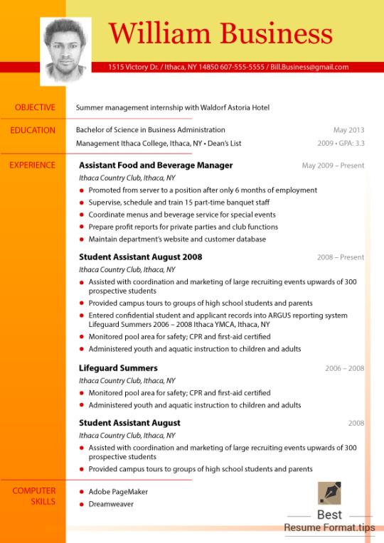 best resume layout reddit