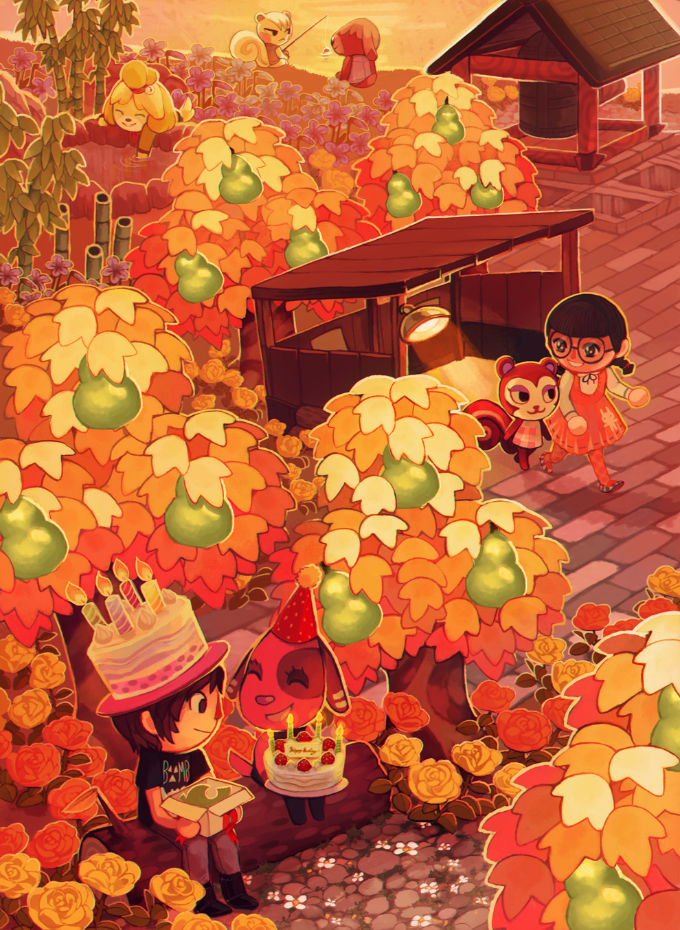 Animal Crossing Fall Wallpaper Animalcrossing Us Preoprix Animal Crossing Commission