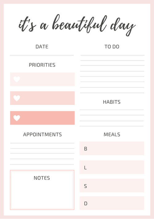 assignment planner template