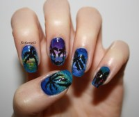 sunset nails on Tumblr