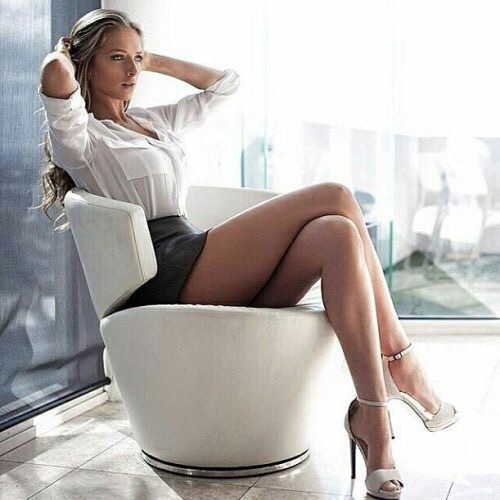 cougar crossed legs