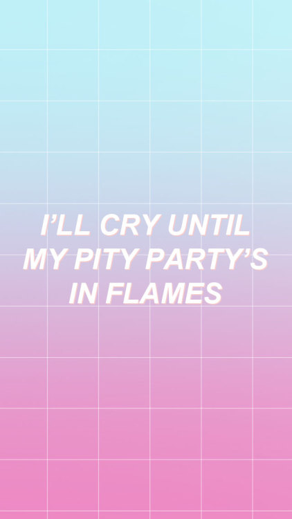 Halsey Wallpaper Quotes Pity Party On Tumblr