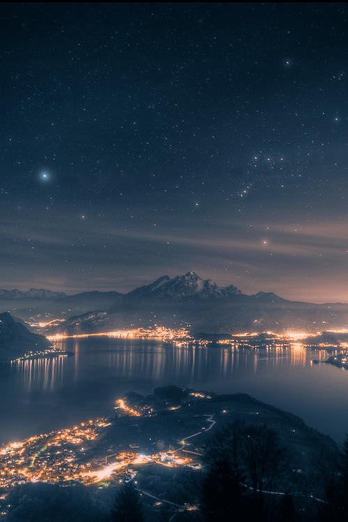 Seattle Washington Fall Skyline Wallpaper Night Scenery On Tumblr