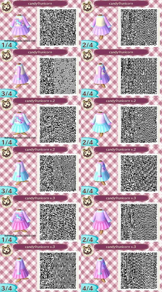 Candy unicorn dress - pastel sweater and skirt Animal crossing - free lined paper to print