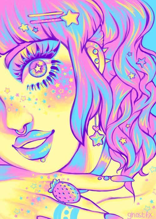 Pastel Goth Girl Wallpaper Fairy Kei On Tumblr