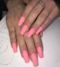 coffin shaped nails | Tumblr