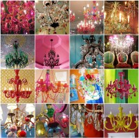 colorful chandelier lighting | Tumblr