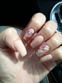 pink acrylic nails | Tumblr