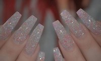 glitter acrylic nails | Tumblr