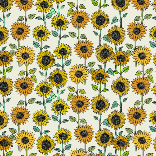 Vector Wallpaper Fall Colors Sunflower Pattern Tumblr