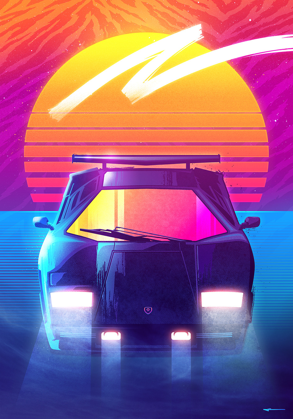 Neon Car Phone Wallpaper Uzicopter The Signalnoise Tumblr Photo