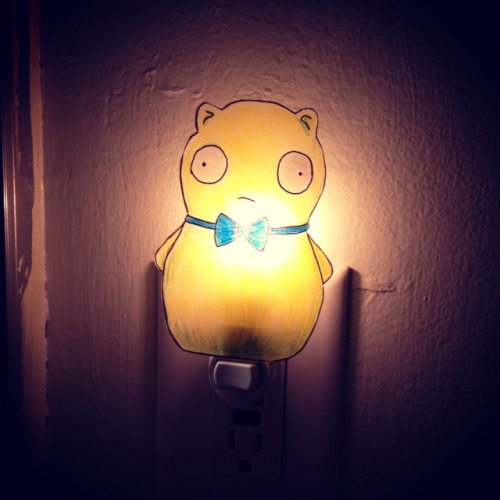 "Kuchi Kopi Night Light Ikea Behind Bob's Burgers, ""shrinky Dinks + Night Light Base"