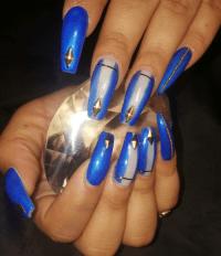 gold tipped nail design   Tumblr