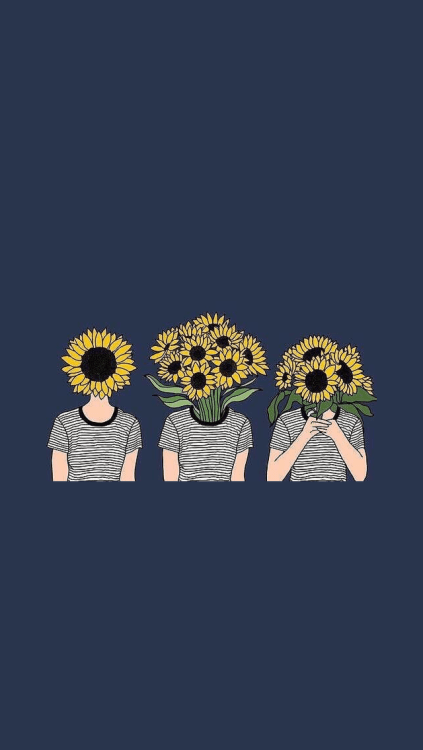 Sunflower Wallpaper With Quote Hippie Lockscreens Tumblr
