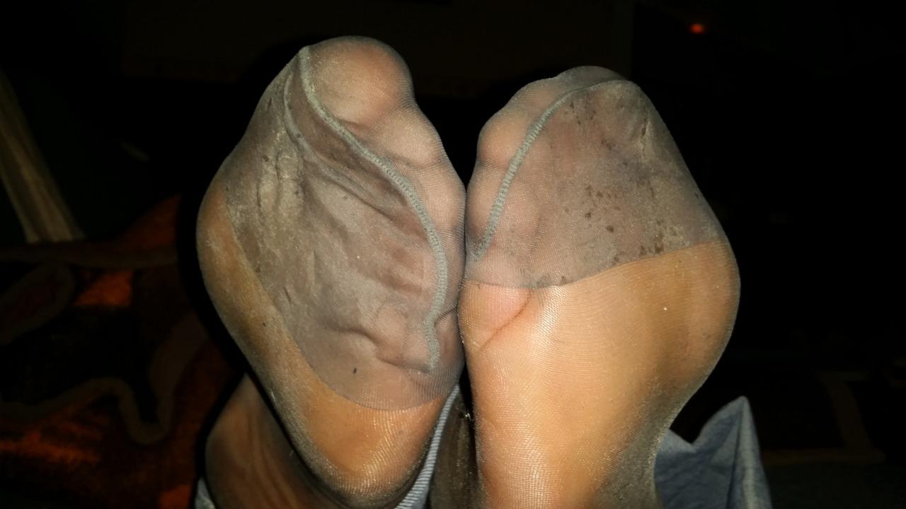 smelling nylon soles pov
