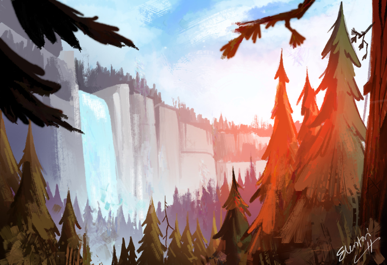 Waddles Gravity Falls Wallpaper Elentori The Landscape Paintings From Earlier This Week