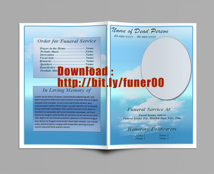 six resources to find free funeral program templates to download - free download funeral program template