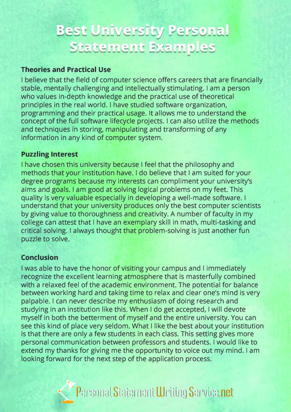 Best personal statement writing services for university » Pay to