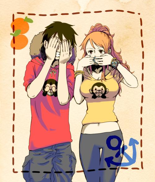 Monkey D Luffy 3d Wallpaper Luffy X Nami On Tumblr