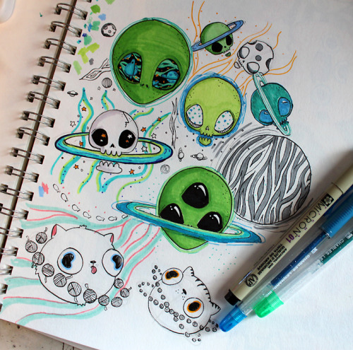 Cute Alien Iphone Wallpaper Cat Planet Tumblr