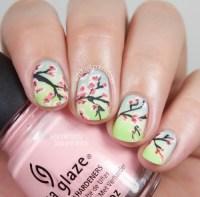 cherry blossom nail art   Tumblr