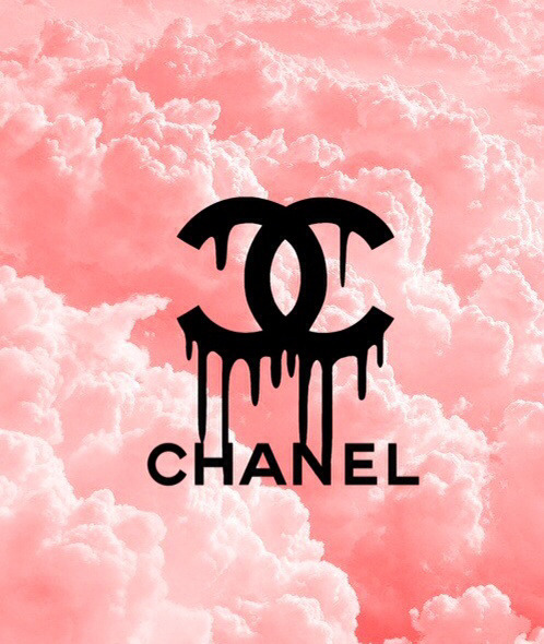 Black And Pink Floral Wallpaper Dripping Chanel On Tumblr