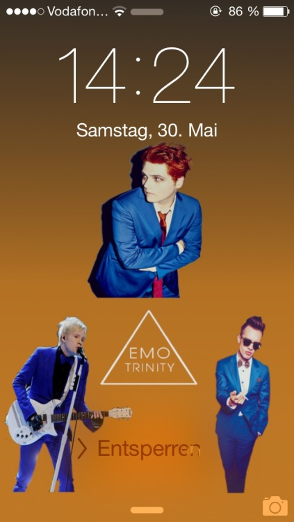 Fall Out Boy Mania Wallpaper Iphone Emo Trinity Lockscreen Tumblr