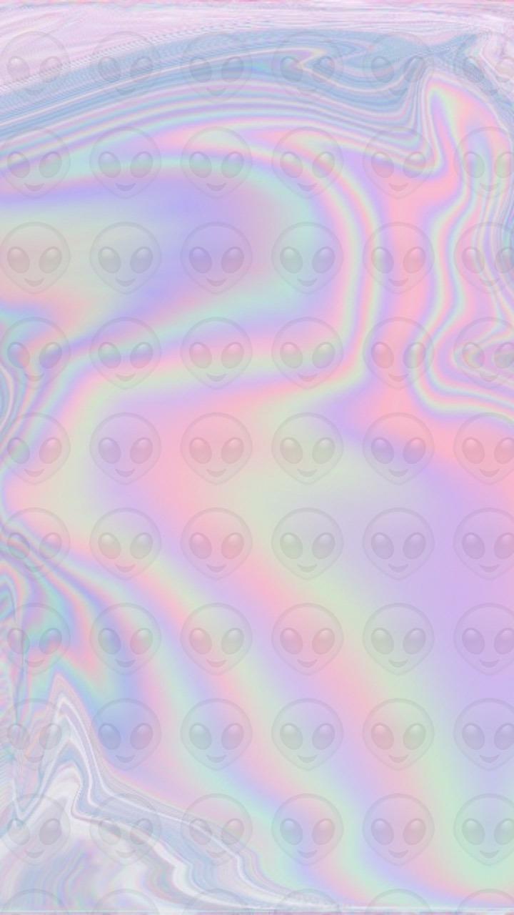 Cute Alien Wallpaper Iphone Loubeccabee Walls Alien Emoji Hologram Wallpaper