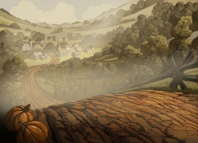 Nick Cross — Some backgrounds I designed and painted for Over...