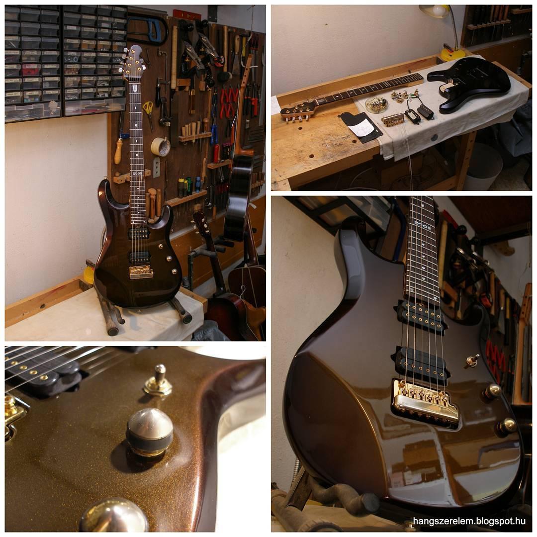 Musicman john petrucci modell j rt n lam egy kis pol roz son a bal als k pen l that karcokat t ntettem el nagyon j l tgondolt hangszer egy bk nt
