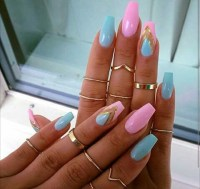 pink coffin nails | Tumblr