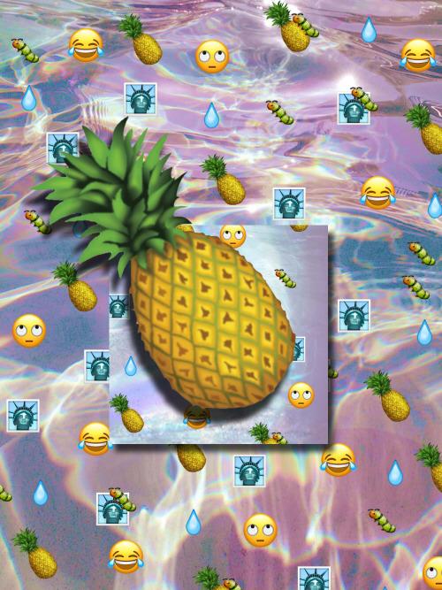 Vaporwave Iphone Wallpaper Pineapple Emoji Tumblr