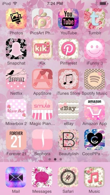 Cute Wallpapers Cocoppa Kawaii App Icons Tumblr