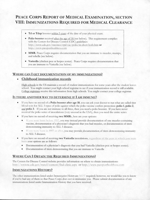 Medical Clearance Form I Got An Extra Form Detailing How To