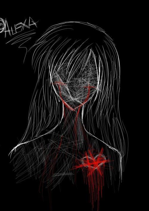 Girl Skull Wallpaper Emo Drawing On Tumblr