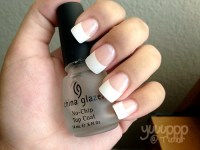 Lollimobile.com - White french tip nails and clear top ...