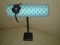 Boutique Headband Display Turquoise Polka Dots With Wood ...