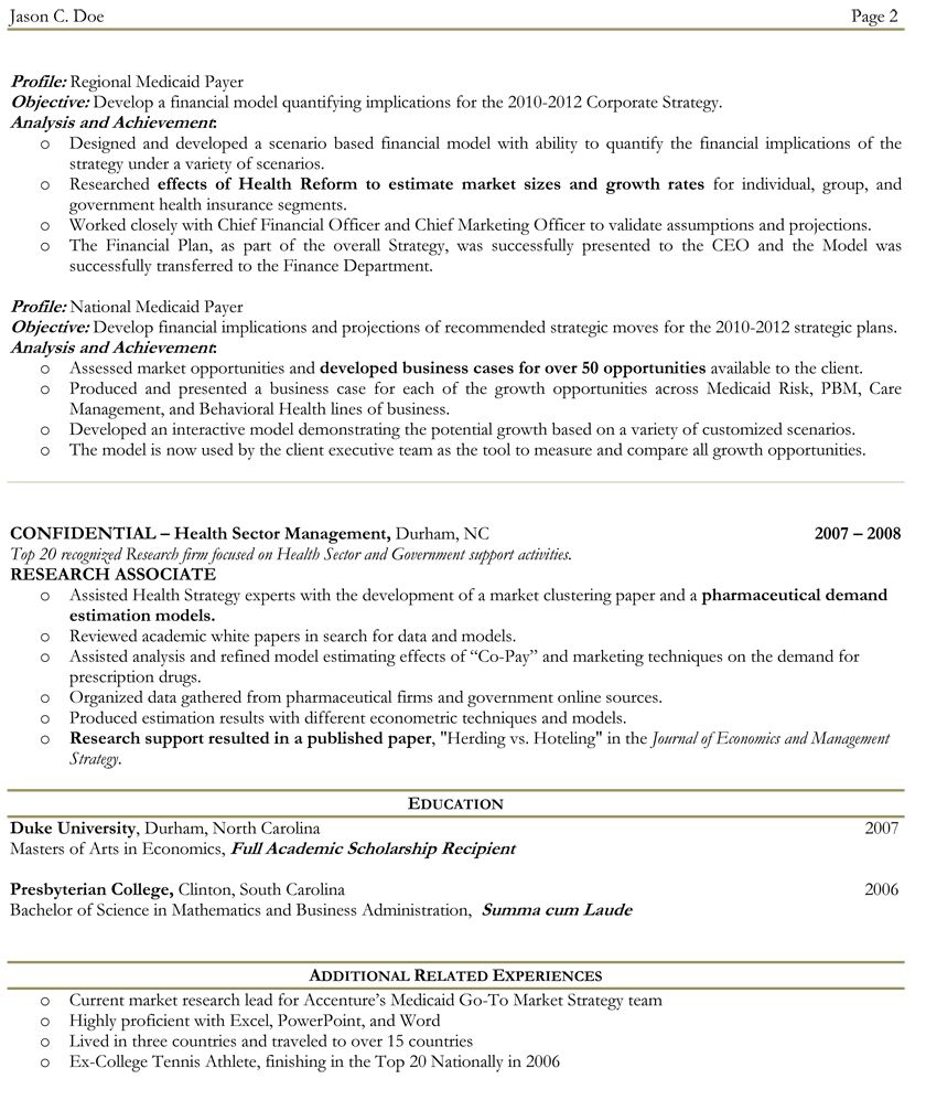 Two Page Resume category 2017 tags two page resume format example Two Page Resume Format Example