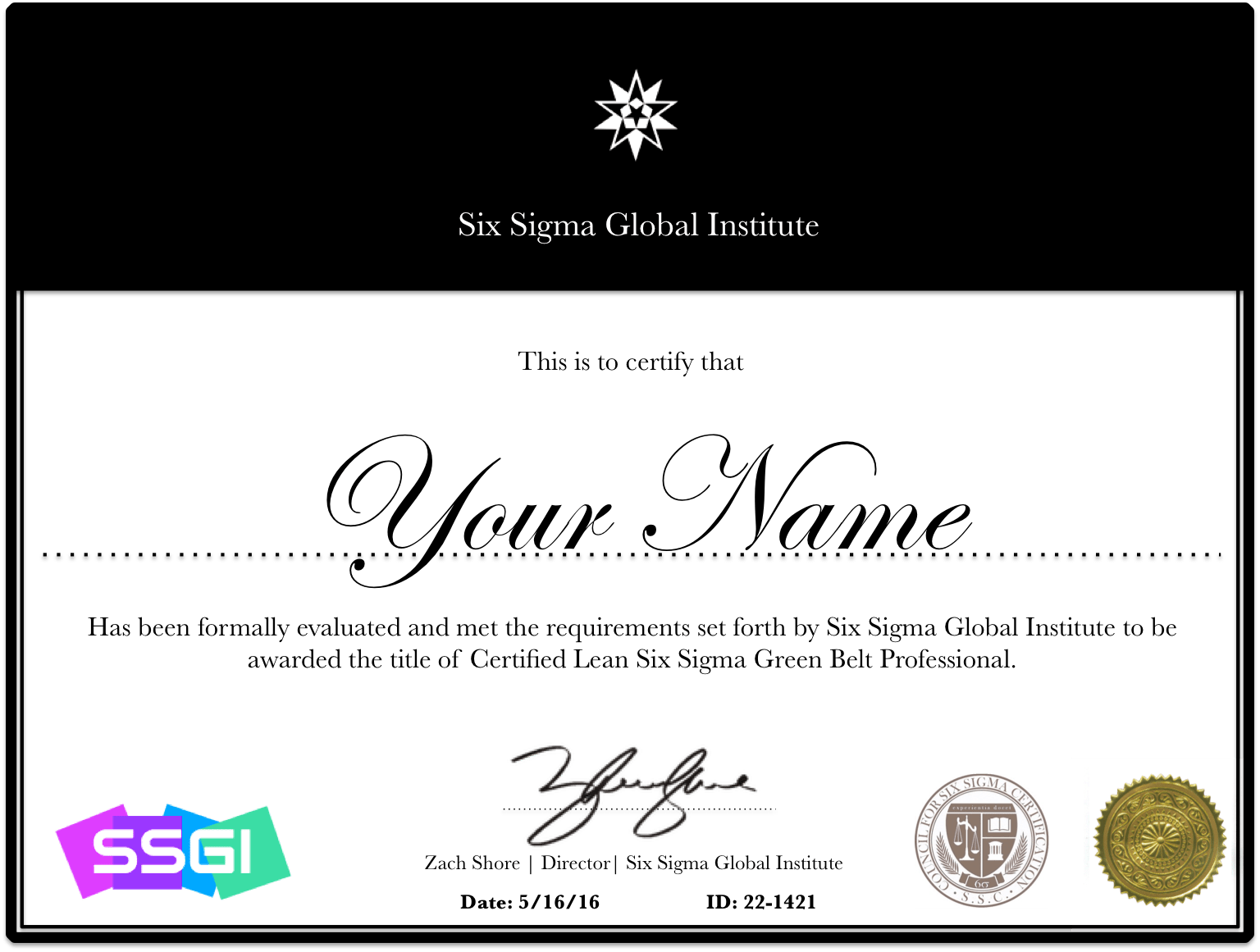Lean six sigma green belt certification online ssgi green belt certification xflitez Image collections