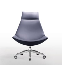 Contemporary High Back Swivel Saucer Chair - Ambience Dor