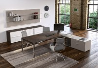 Metal Wood Modern Work Desk - Ambience Dor